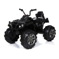 Детский электроквадроцикл Grizzly ATV Black 12V с пультом управления 2.4G - BDM0906